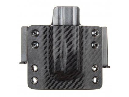 OWB - CZ P-10 C/F/S/SC - CZ P-07/09 - vnější kydexové pouzdro na 1 zásobník - plný sweatguard - carbon/tmavě šedá