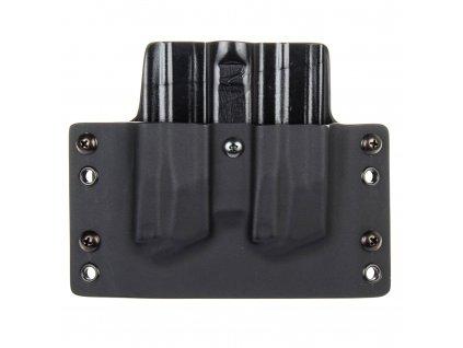 OWB - vnější kydexové pouzdro na 2 zásobníky Beretta APX - plný sweatguard - černá/černá