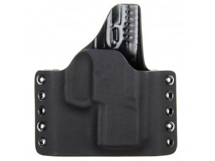 OWB - vnější kydexové pouzdro na Walther PPS M1 - poloviční sweatguard - černá/černá