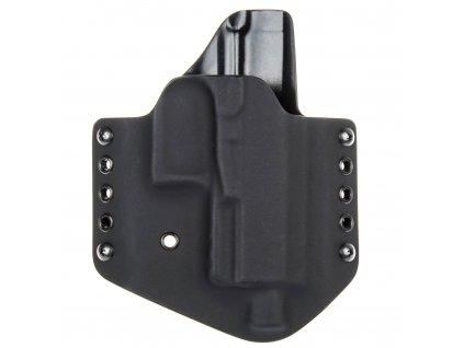 OWB - vnější kydexové pouzdro na Walther PPQ M2 Navy - poloviční sweatguard - černá/černá
