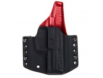 OWB - Heckler & Koch SFP9 - vnější kydexové pouzdro - plný sweatguard - černá/červená