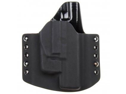 OWB - Glock 17/22/31 + Streamlight TLR-6 - vnější kydexové pouzdro - poloviční sweatguard - černá/černá