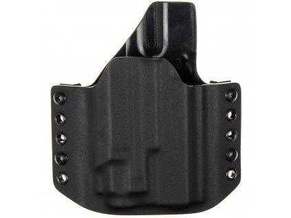 OWB - vnější kydexové pouzdro na Glock 19/23/32 + Streamlight TLR-8 - poloviční sweatguard - černá/černá