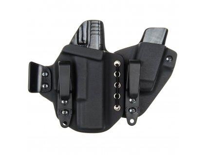 AIWB - Glock 19/23/32 - Glock 19X/45 + zásobník - appendix vnitřní kydexové pouzdro - poloviční/plný sweatguard - ns - černá