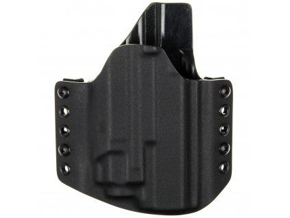 OWB - Glock 17/22/31 + Streamlight TLR-8 - vnější kydexové pouzdro - poloviční sweatguard - černá/černá