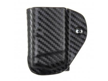 IPSC - sportovní kydexové pouzdro na 1 zásobník Glock 17/22/31 - carbon
