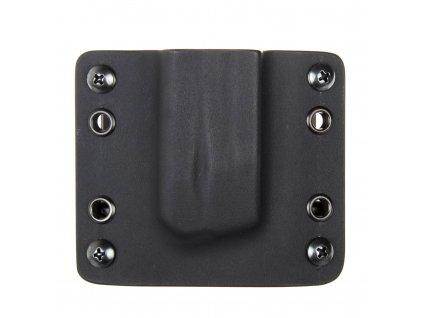 OWB - vnější kydexové pouzdro na 1 zásobník Walther PPQ - bez sweatguardu - černá/černá