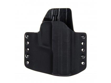 OWB - Heckler & Koch USP 9 mm - vnější kydexové pouzdro - poloviční sweatguard - černá/černá
