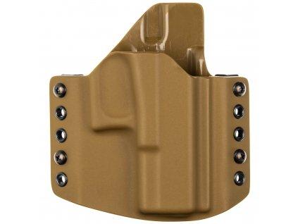 OWB - Glock 19/23/32 - Glock 19X/45 - vnější kydexové pouzdro - poloviční sweatguard - coyote hnědá/coyote hnědá