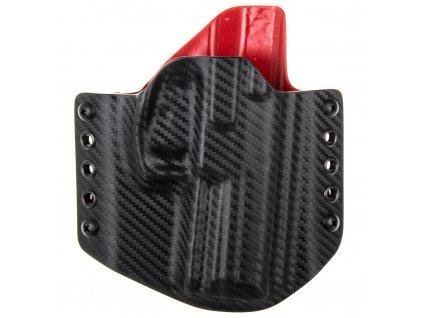 Kydexové pouzdro na zbraň Heckler & Koch SFP9 (VP9) - vnější, carbon/červená