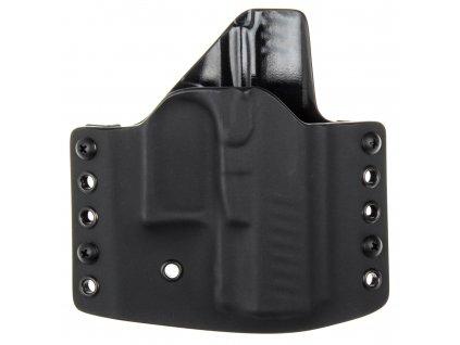 OWB - Walther PPQ SC - vnější kydexové pouzdro - poloviční sweatguard - černá/černá