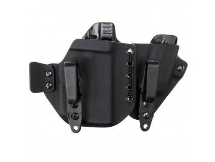 AIWB - Glock 43 + Streamlight TLR-6 + zásobník - appendix vnitřní kydexové pouzdro - poloviční sweatguard - ns - černá