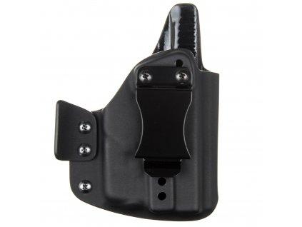 IWB - vnitřní kydexové pouzdro na Glock 43 + Streamlight TLR-6 - plný sweatguard - ns - dráp - černá