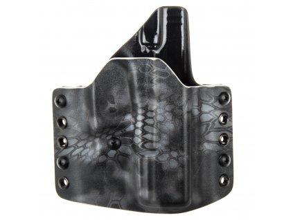 OWB - vnější kydexové pouzdro na Glock 19/23/32 - poloviční sweatguard - ns - kryptek typhon/černá