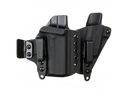 AIWB - Glock 43X + zásobník - appendix vnitřní kydexové pouzdro - poloviční sweatguard - ns - černá