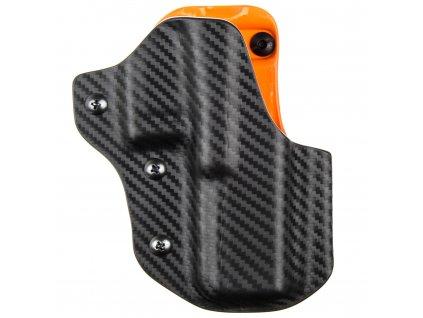 IPSC DL - Glock 17/22/31 - sportovní kydexové pouzdro - carbon/oranžová