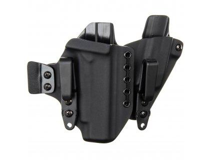 AIWB - Glock 48 + zásobník - appendix vnitřní kydexové pouzdro - poloviční/plný sweatguard - ns - černá