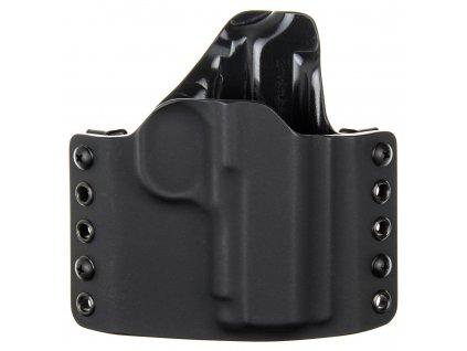 """OWB - 1911 3.3"""" - vnější kydexové pouzdro - poloviční sweatguard - černá/černá"""