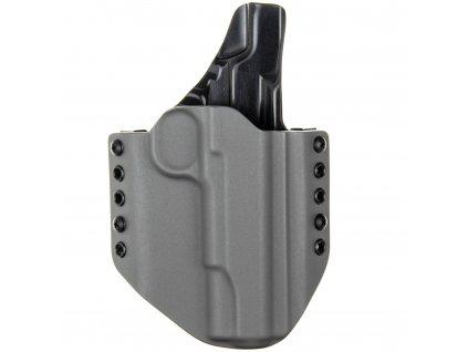 """OWB - 1911 5"""" - vnější kydexové pouzdro - plný sweatguard - tmavě šedá/černá"""