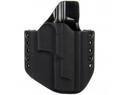 OWB - Walther Q5 Match Steel Frame - vnější kydexové pouzdro - poloviční sweatguard - černá/černá