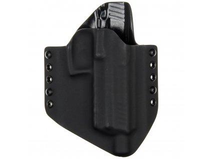 OWB - vnější kydexové pouzdro na Heckler & Koch P30 SD - poloviční sweatguard - černá/černá