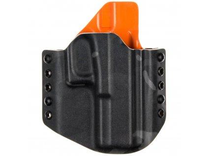 OWB - Glock 17/22/31 - vnější kydexové pouzdro - poloviční sweatguard - multicam black/oranžová