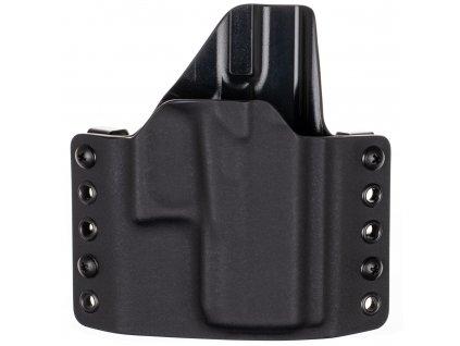 OWB - Glock 43X Rail - vnější kydexové pouzdro - poloviční sweatguard - černá/černá