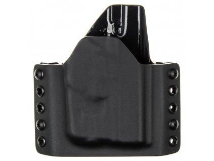 OWB - Glock 42 + Streamlight TLR-6 - vnější kydexové pouzdro - poloviční sweatguard - černá/černá