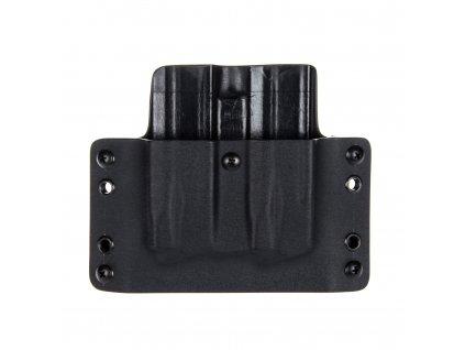 OWB - Walther PPQ M1/M2 - P99 - vnější kydexové pouzdro na 2 zásobníky - plný sweatguard - černá/černá