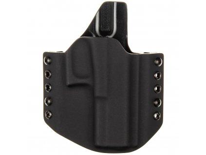 OWB - Glock 17 MOS - vnější kydexové pouzdro - poloviční sweatguard - černá/černá