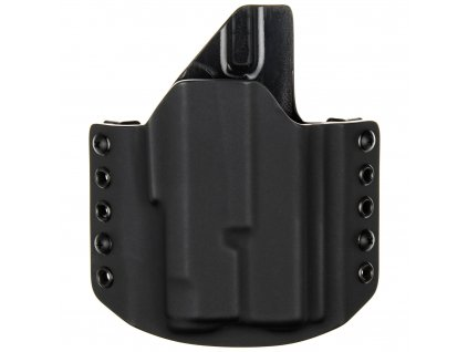 OWB - Glock 19 MOS + Inforce APLc - vnější kydexové pouzdro - poloviční sweatguard - černá/černá