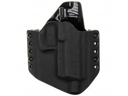 OWB - Heckler & Koch P30 SD - vnější kydexové pouzdro - poloviční sweatguard - černá/černá