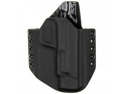 """OWB - Smith & Wesson M&P9 5"""" - vnější kydexové pouzdro - poloviční sweatguard - černá/černá"""