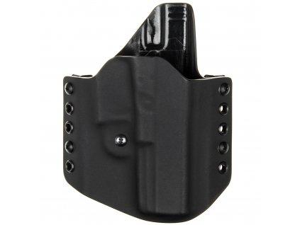 OWB - Glock 20/21 - vnější kydexové pouzdro - poloviční sweatguard - ns - černá/černá