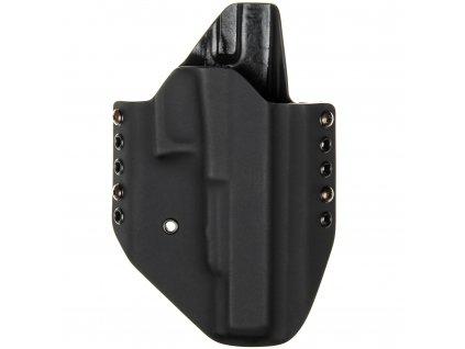 OWB - Glock 40 - vnější kydexové pouzdro - poloviční sweatguard - černá/černá