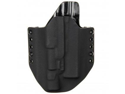 OWB - Glock 17/22/31 + Surefire X300U-A - vnější kydexové pouzdro - poloviční sweatguard - černá/černá