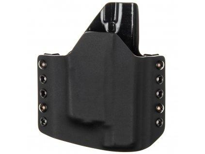 OWB - Glock 48 + Streamlight TLR-6 - vnější kydexové pouzdro - poloviční sweatguard - černá/černá