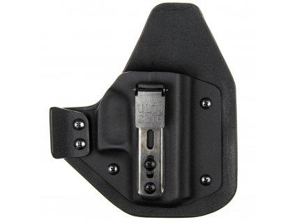 H/IWB - Glock 43/43X - hybridní appendix vnitřní kydexové pouzdro - plný sweatguard - černá