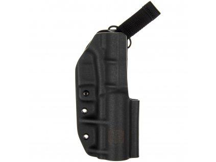 TAC - Glock 17/19 - Glock 19X/45 + TLUMIČ - taktické kydexové pouzdro - černá