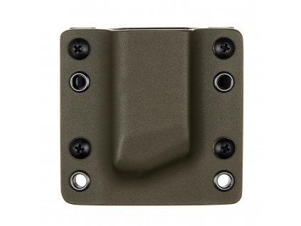 OWB - Glock 17/19/19X/45 - vnější kydexové pouzdro na 1 zásobník - bez sweatguardu - olivová/černá