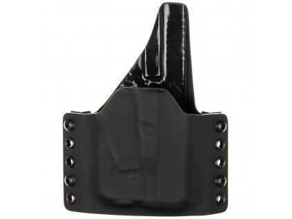 OWB - Glock 26/27 + Streamlight TLR-6 - vnější kydexové pouzdro - plný sweatguard - černá/černá
