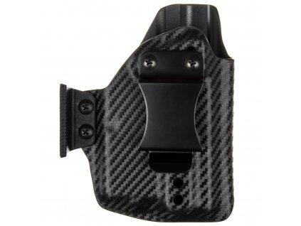 AIWB - Glock 43/43X + Streamlight TLR-6 - appendix vnitřní kydexové pouzdro - poloviční sweatguard - ns - carbon