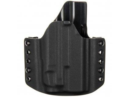 OWB - Glock 19 Gen5 - Glock 19X/45 + Streamlight TLR-7 - vnější kydexové pouzdro - poloviční sweatguard - černá/černá