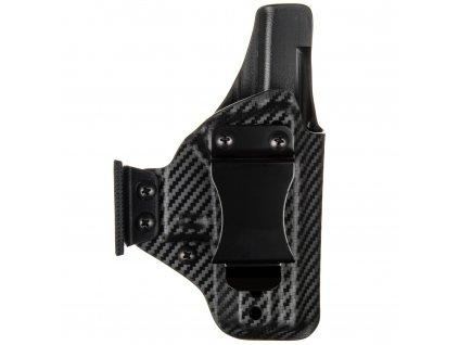 AIWB - Glock 43/43X - appendix vnitřní kydexové pouzdro - plný sweatguard - ns - carbon