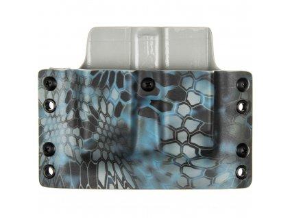 OWB - Glock 17/19/19X/45 - vnější kydexové pouzdro na 2 zásobníky - plný sweatguard - kryptek neptune/kryptek typhon