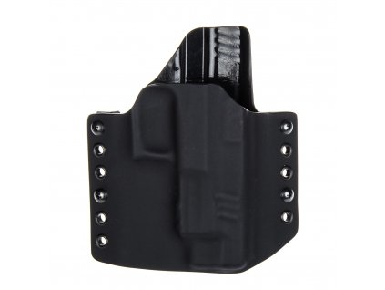 """OWB - Springfield XDM 4.5"""" - vnější kydexové pouzdro - poloviční sweatguard - černá/černá"""