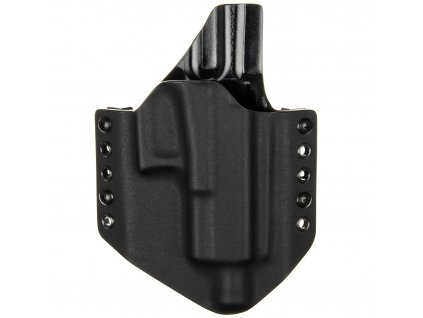 OWB - Glock 19/23/32 - Glock 19X/45 MOS + ZÁVIT - vnější kydexové pouzdro - poloviční sweatguard - černá/černá