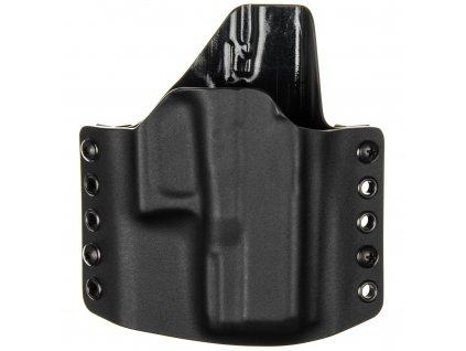 OWB - Glock 29 - vnější kydexové pouzdro - poloviční sweatguard - černá/černá