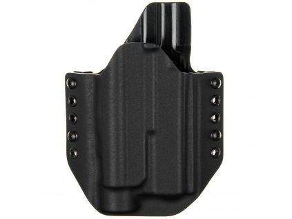OWB - Glock 17 Gen5 + Streamlight TLR-1 - vnější kydexové pouzdro - poloviční sweatguard - černá/černá