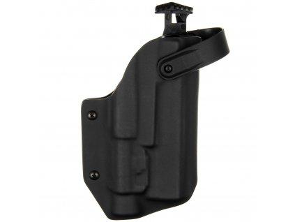 TAC - Glock 17/22/31 + Streamlight TLR-2 - AUTO pojistka - taktické kydexové pouzdro - černá